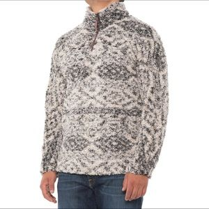 🆕 True Grit Tribal Frosty Tipped Fleece 1/4 Zip Pullover Mens Size Xlarge-Putty